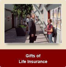 Rollover image of a teacher and student talking. Link to Gifts of Life Insurance.