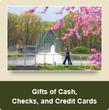 Rollover image of White Chapel in spring. Link to Gifts of Cash, Check, and Credit Cards.