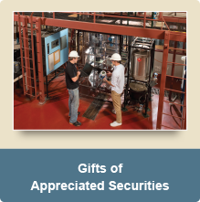 Rollover image of two students. Link to Gifts of Appreciated Securities.